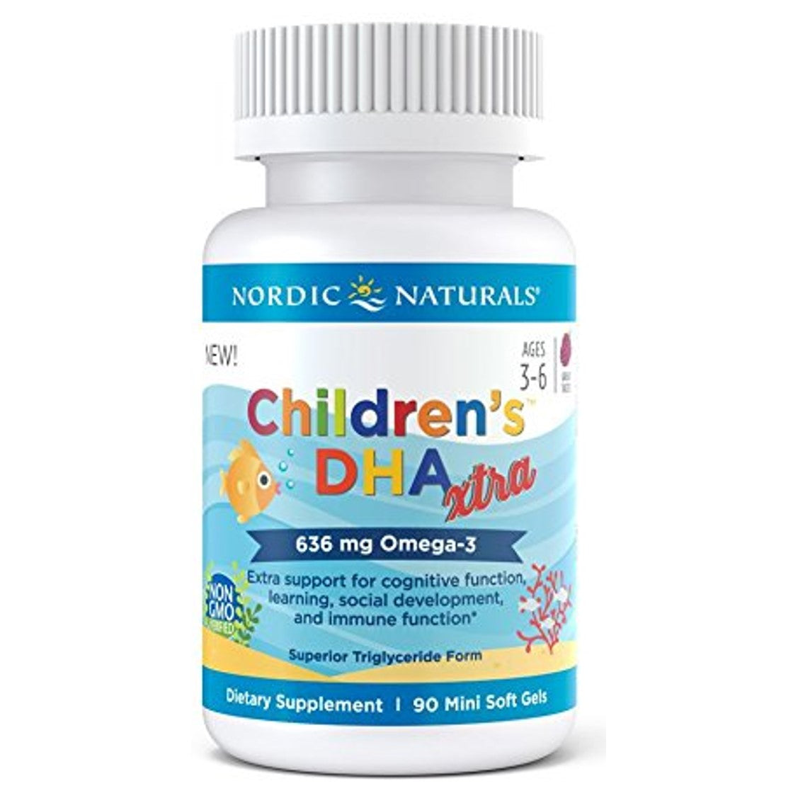 Nordic Natural Children's DHA™ Xtra, 90 softgels-NaturesWisdom