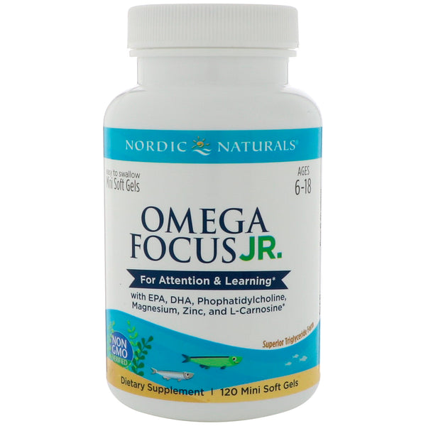Nordic Natural Omega Focus Junior™, 120 softgels