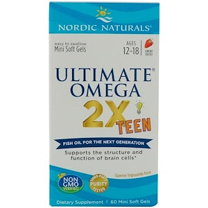 Nordic Natural Ultimate Omega® 2X Teen, 60 softgels
