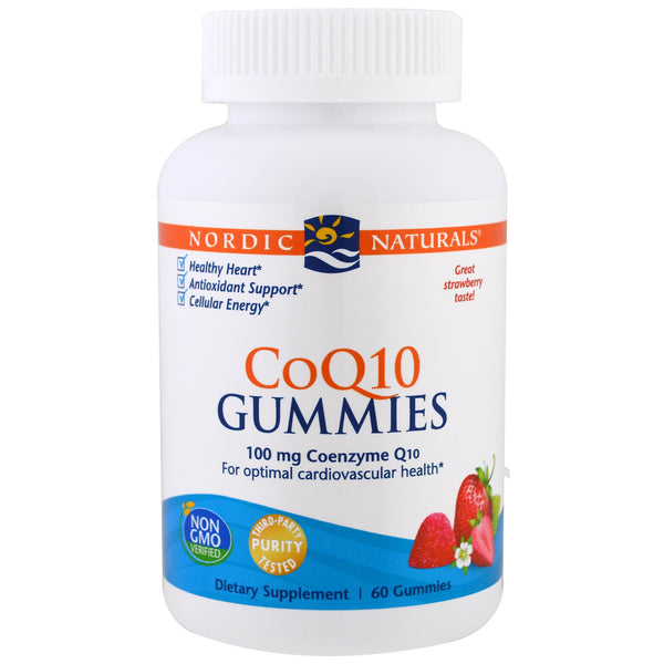 Nordic Naturals CoQ10 Gummies - Strawberry, 60 gums.