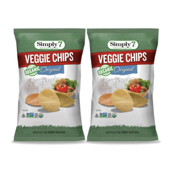 25% Off [Bundle of 2] Simply 7 Organic Veggie Chips - Original, 113g