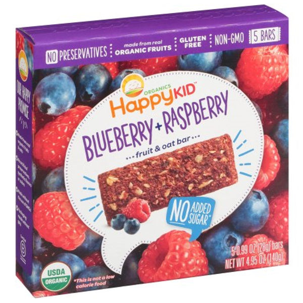 Happy Family Happy Kid Fruit and Oat Bar - Blueberry & Raspberry, 140 g.