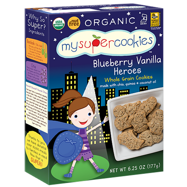 My Super Foods,My Super Cookies- Blueberry Heroes, 177g.