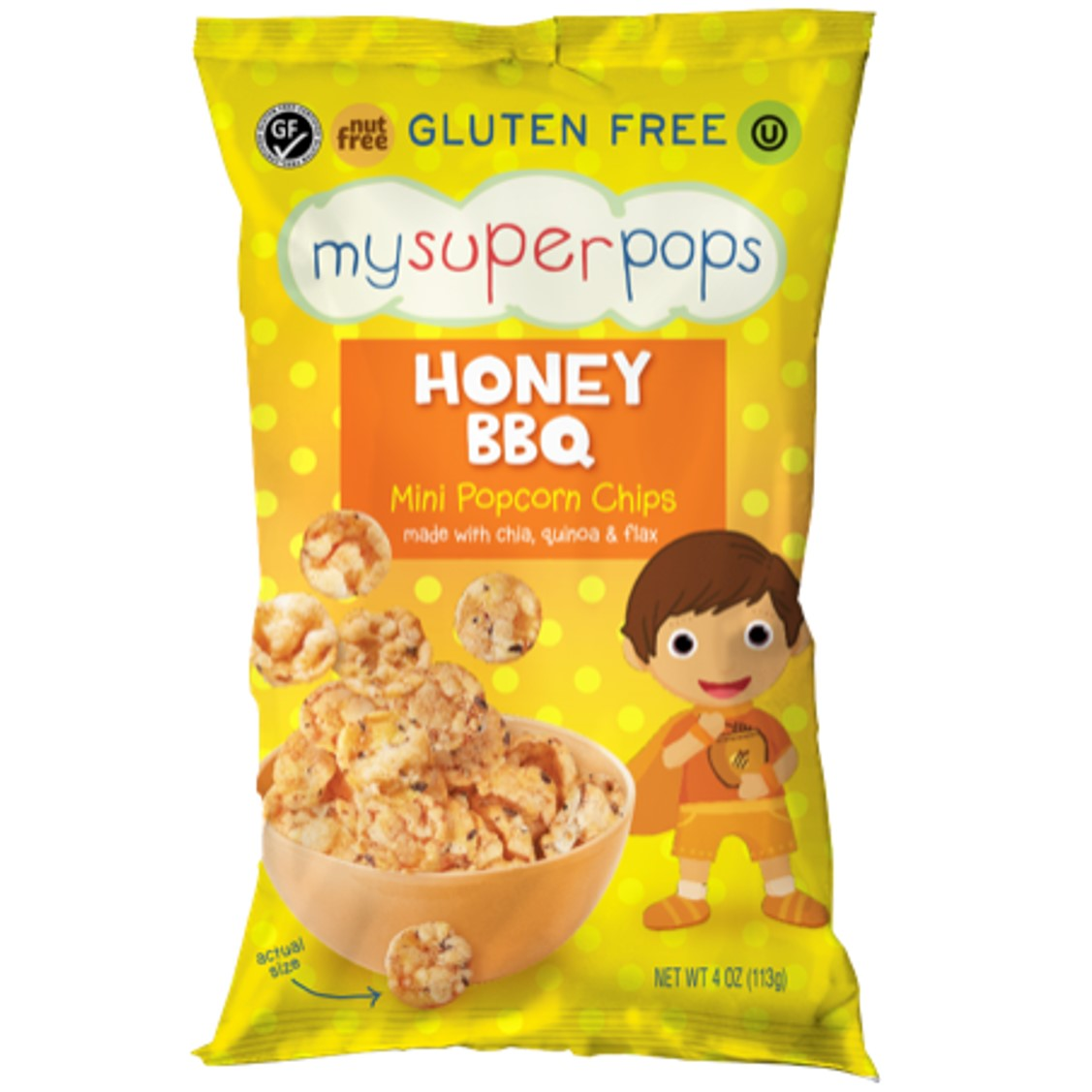 My Super Foods,MySuperPops- Honey BBQ,113g-NaturesWisdom