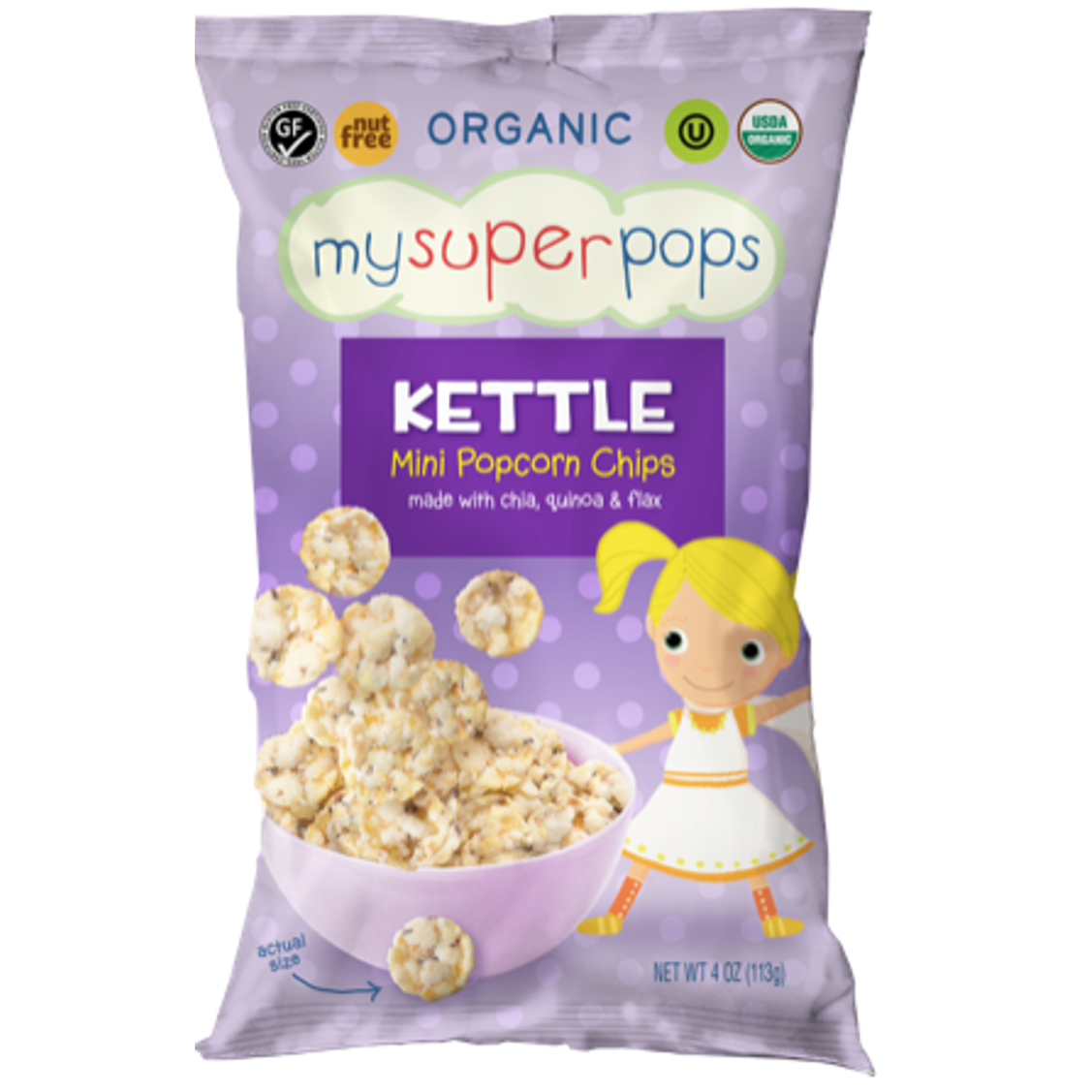 My Super Foods,MySuperPops- Kettle,113g-NaturesWisdom