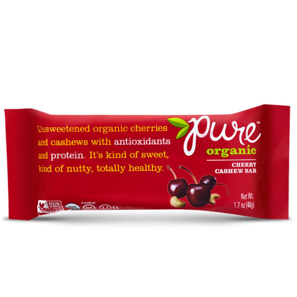 Pure Bar Cherry Cashew Bar (Organic), 48g.