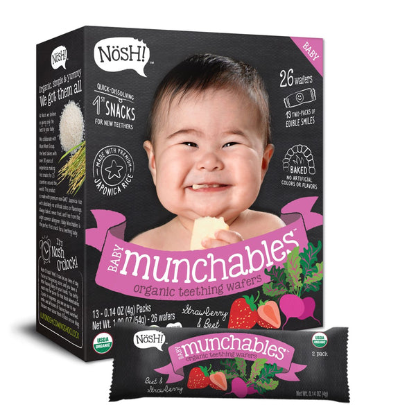 Nosh Baby Munchables - Strawberry & Beet, 13 x 4g.