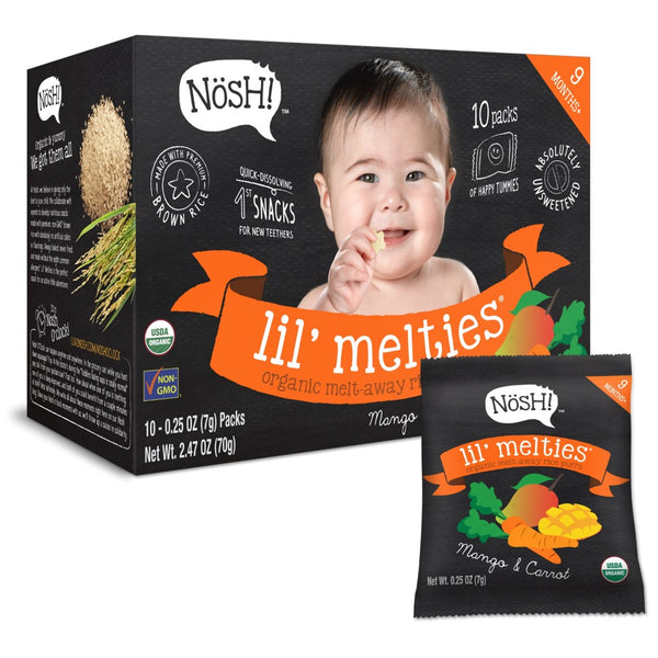 Nosh Lil' Melties - Mango & Carrot, 10 x 7g.