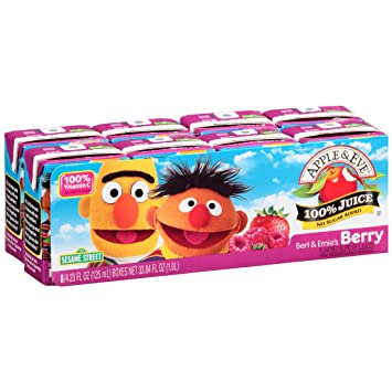 Apple & Eve Sesame Street - Bert & Ernie's Berry, 8 x 125 ml.
