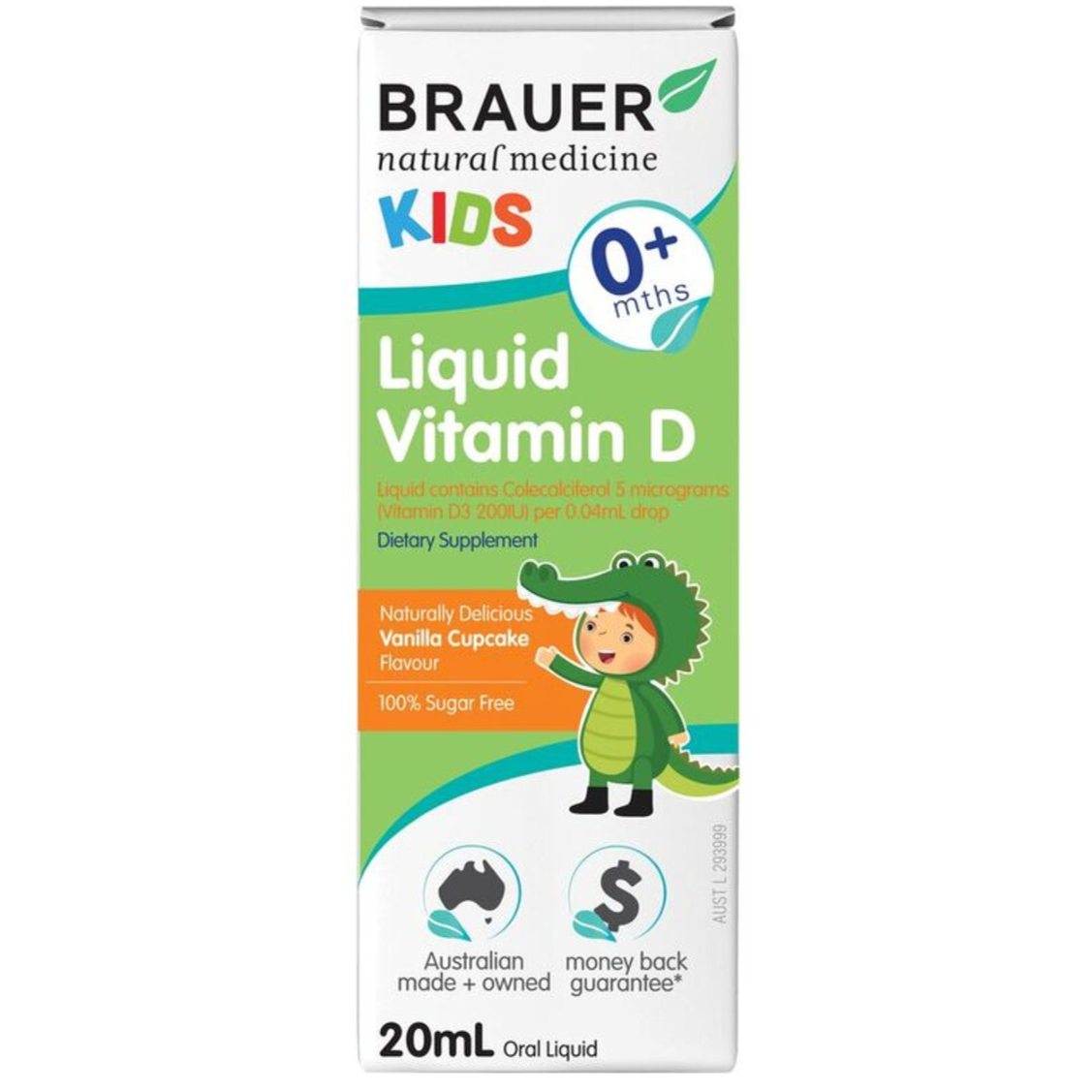 Brauer Kids Liquid Vitamin D, 20ml.
