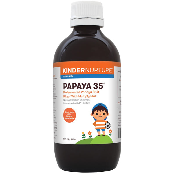 KinderNurture Bio Fermented Papaya 35 Fruit & Leaf, 500mL