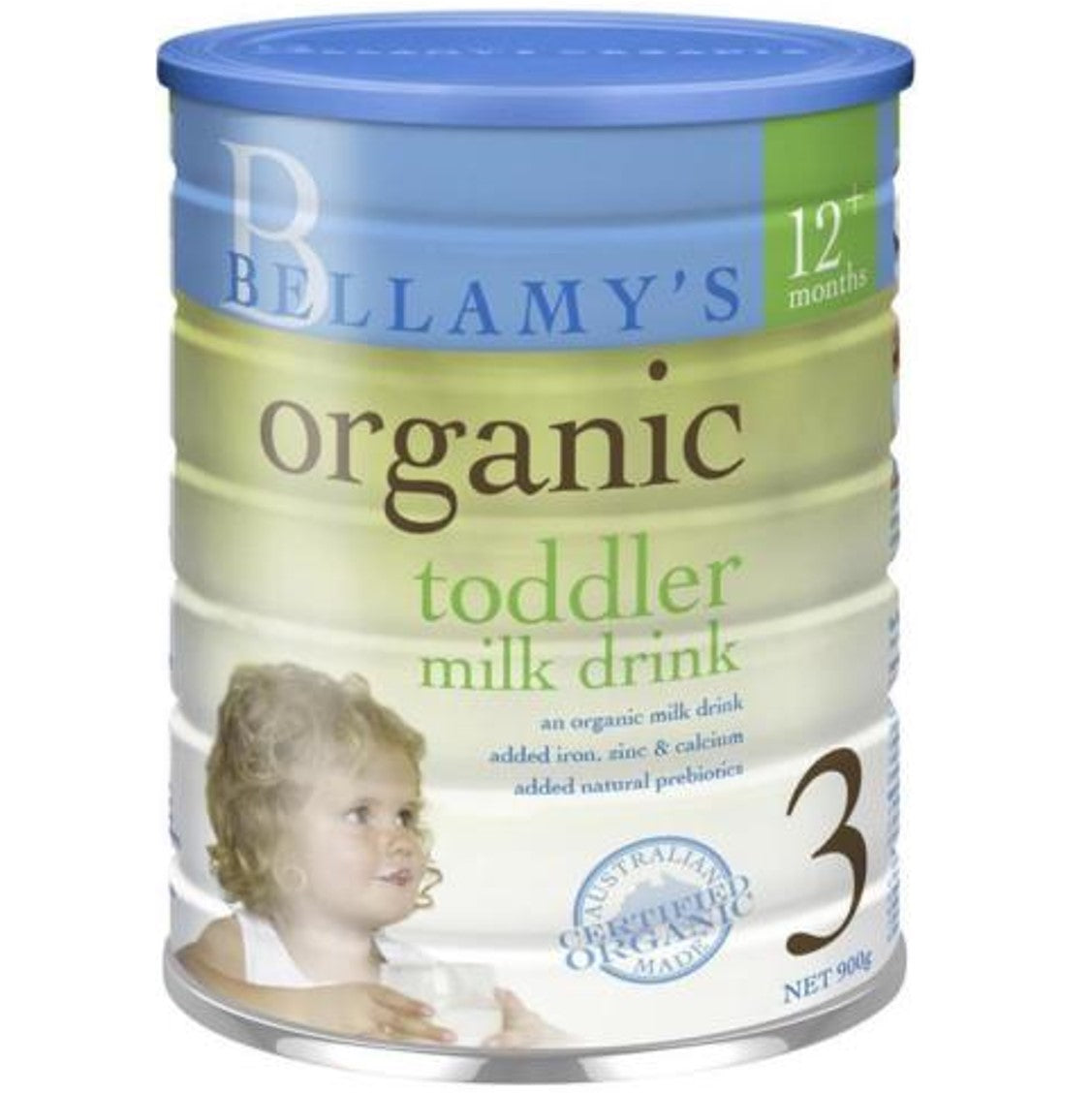 Bellamy's Organic Toddler Growing Up Milk Drink - Step 3, 900 g.-NaturesWisdom