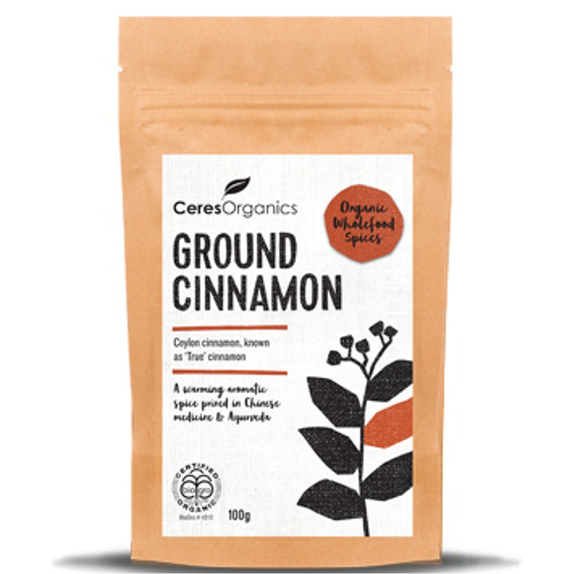 Ceres Organics Ground Cinnamon, 100g