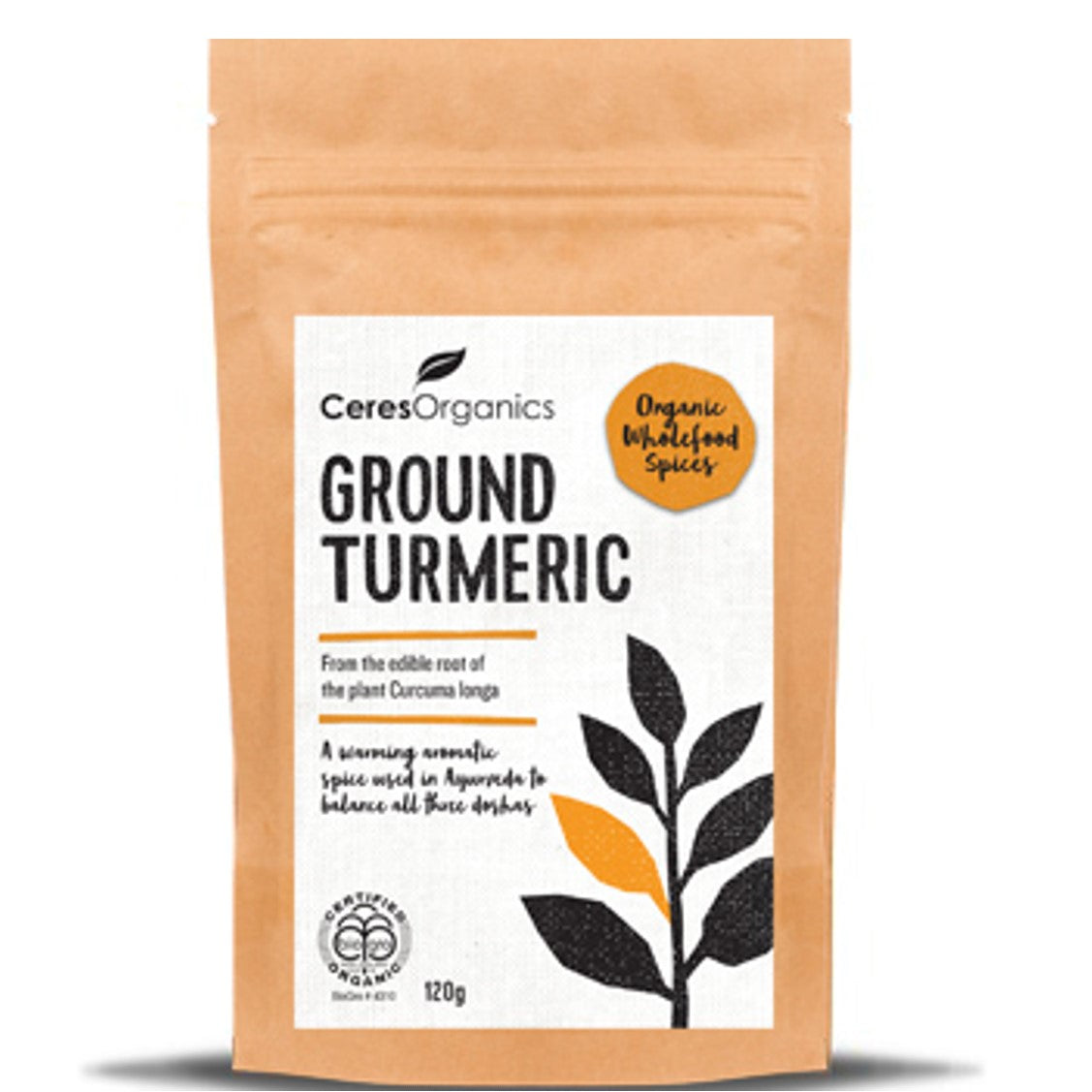 Ceres Organics Ground Tumeric,100g-NaturesWisdom