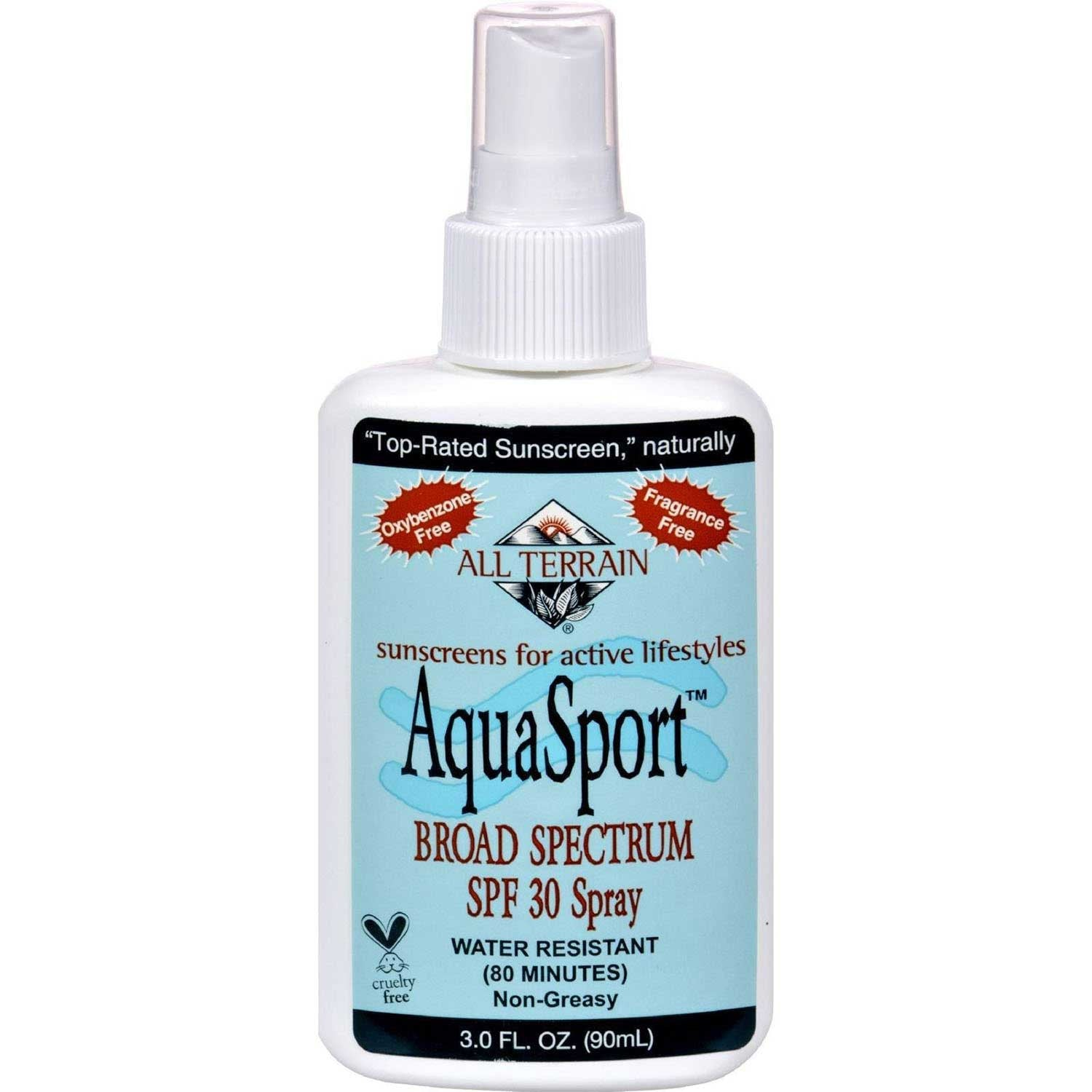 All Terrain AquaSport SPF 30+ Sunblock Spray, 90 ml.