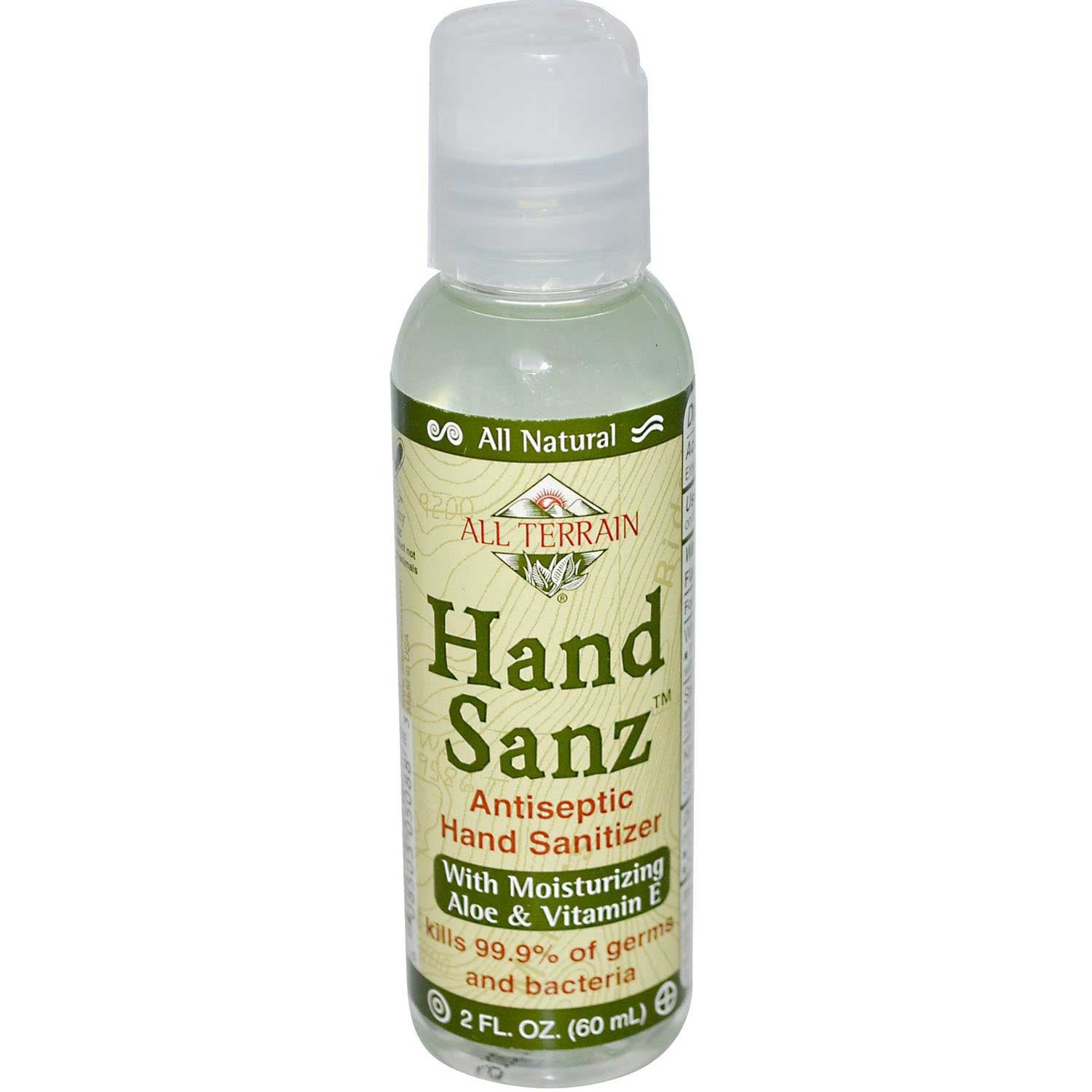 All Terrain Hand Sanz with Aloe & Vitamin E, 60 ml.