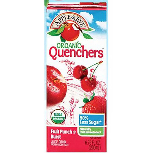 Apple & Eve Organic Quenchers - Fruit Punch Burst, 200 ml.
