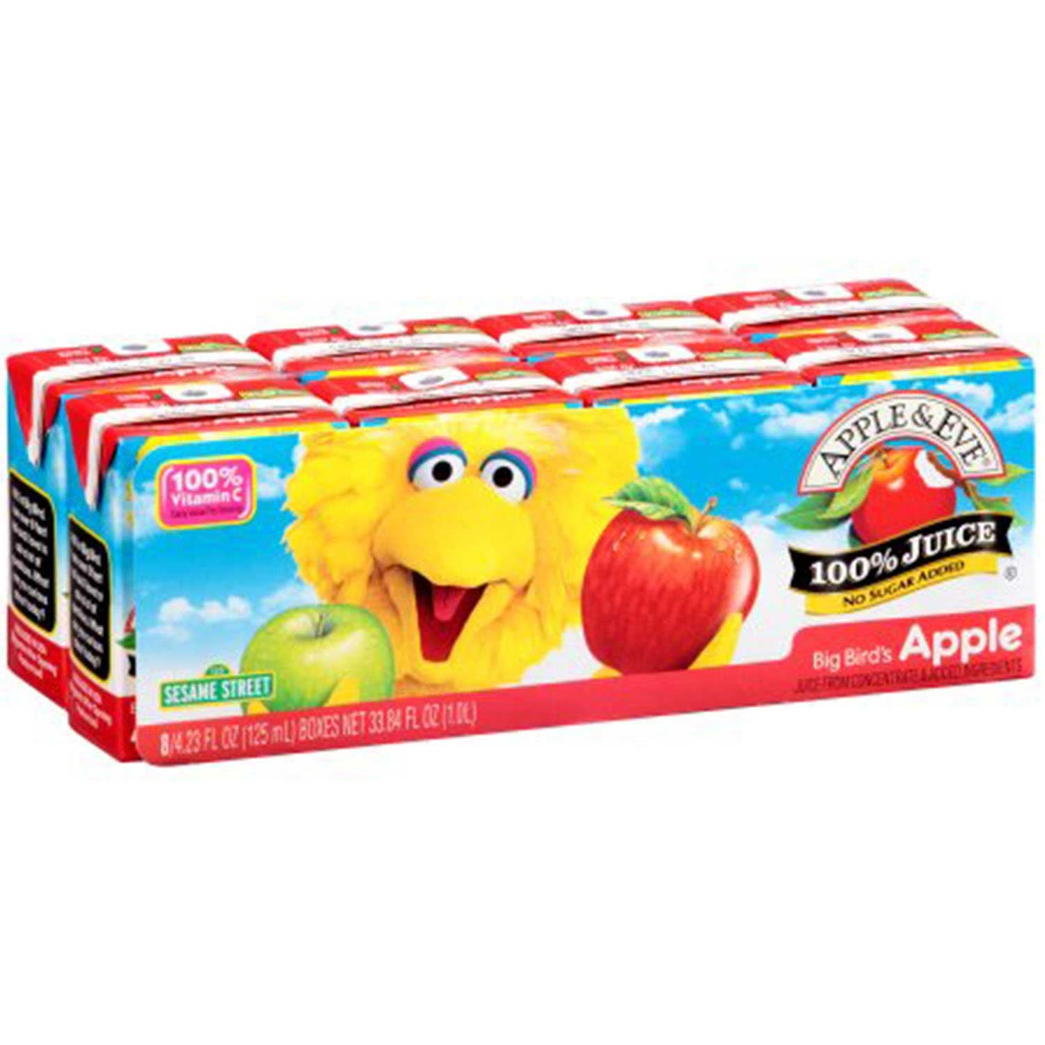 Apple & Eve Sesame Street - Big Bird's Apple, 8 x 125 ml.-NaturesWisdom