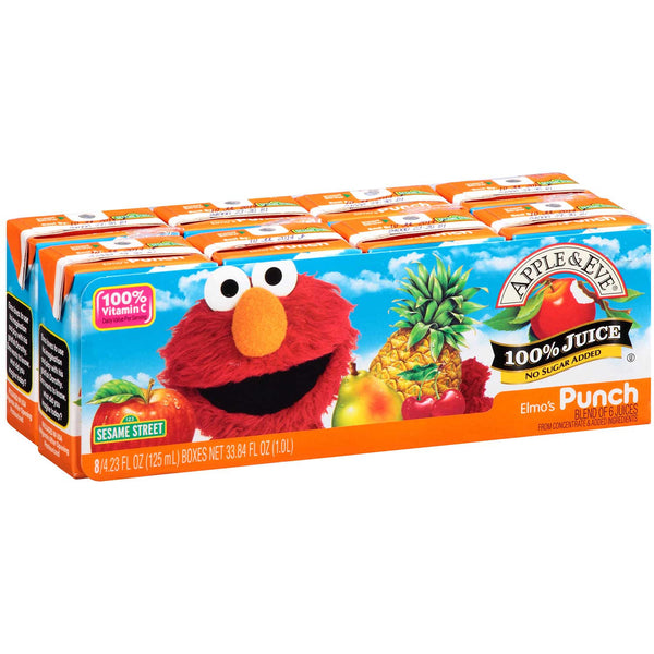 Apple & Eve Sesame Street - Elmo's Punch, 8 x 125 ml.