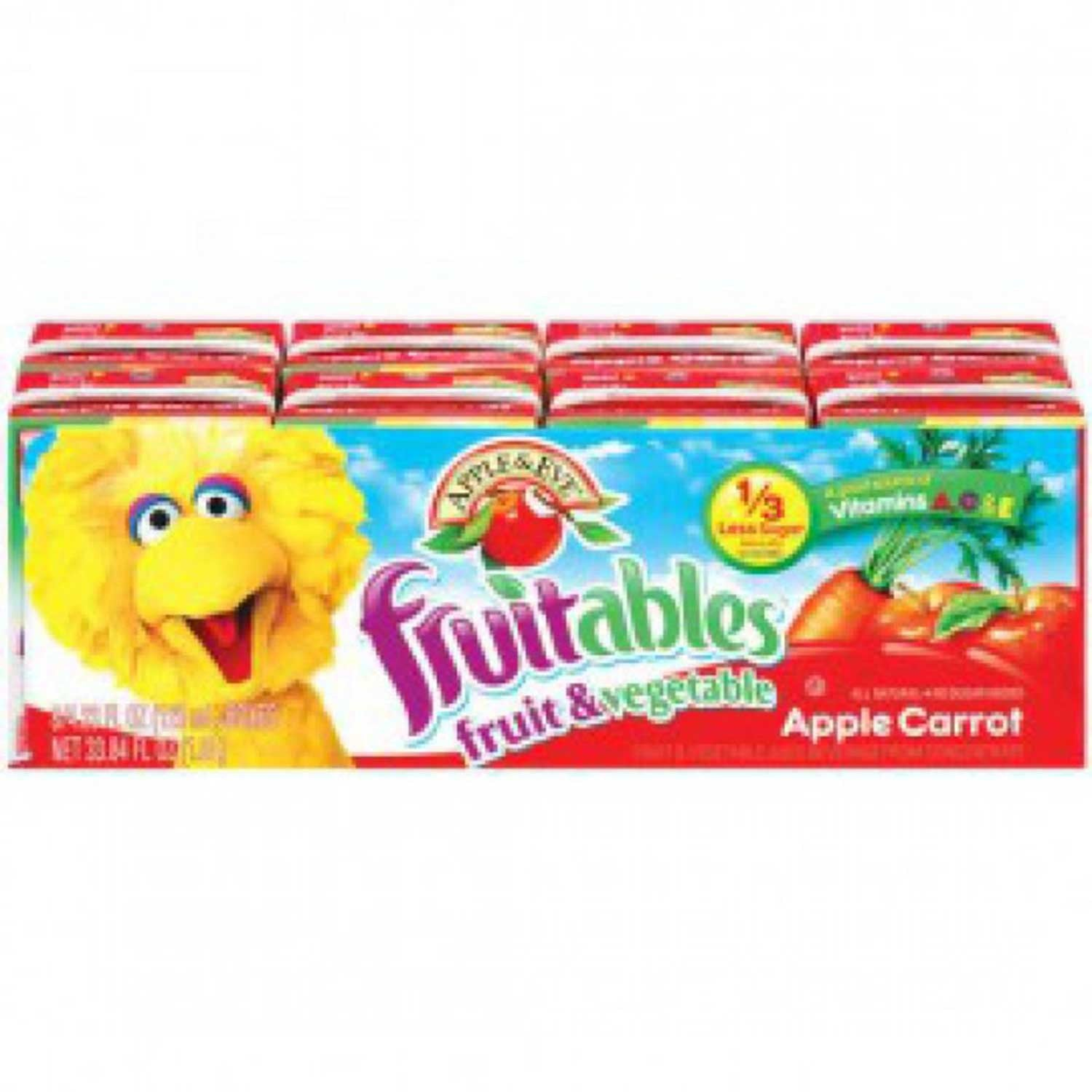 Apple & Eve Sesame Street Fruitables - Apple Carrot, 8 x 125 ml.-NaturesWisdom