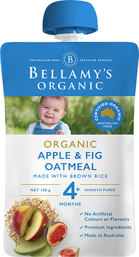 Bellamy's Organic Apple & Fig Oatmeal, 120g