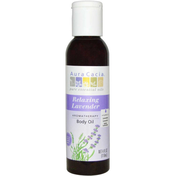 Aura Cacia Lavender Harvest Body Oil (Bath & Massage), 237ml.