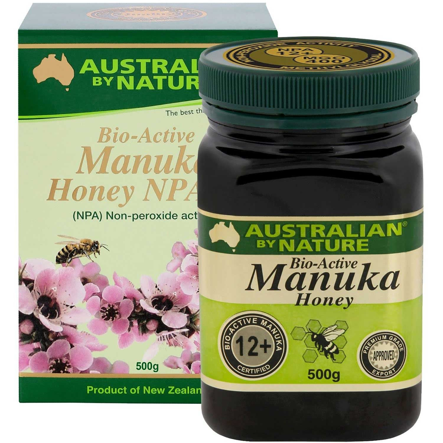 Australian By Nature Bio-Active Manuka Honey NPA 12+, 500 g.-NaturesWisdom