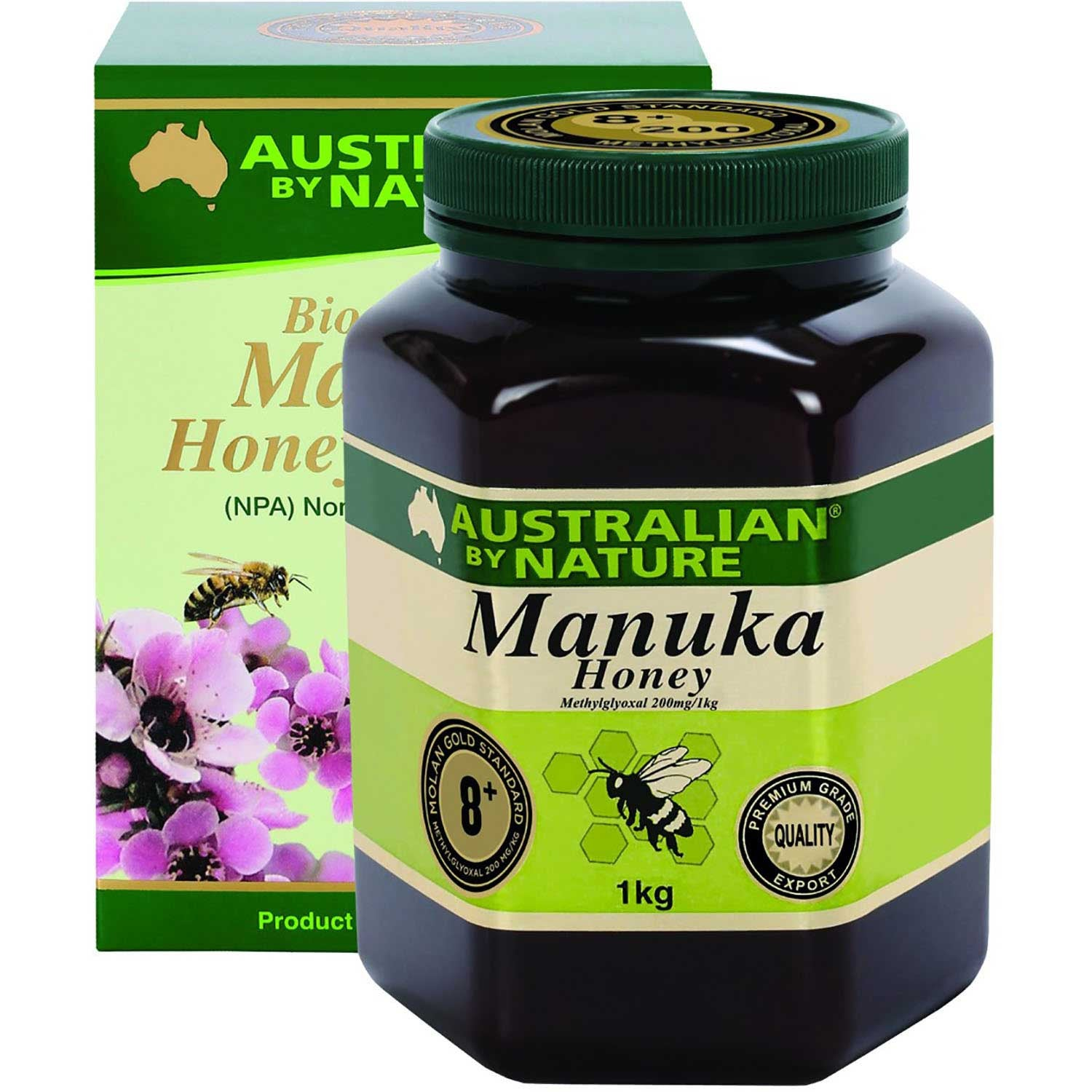 Australian By Nature Bio-Active Manuka Honey NPA 8+, 1 kg.-NaturesWisdom