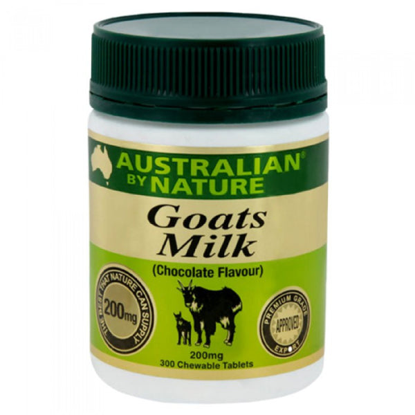 Australian By Nature Goats' Milk 200 mg (Chocolate), 300 tabs.
