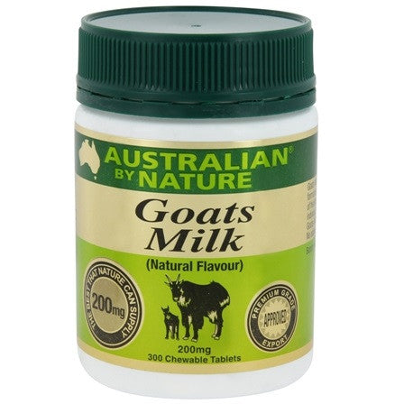 Australian By Nature Goats' Milk 200 mg (Natural), 300 tabs.