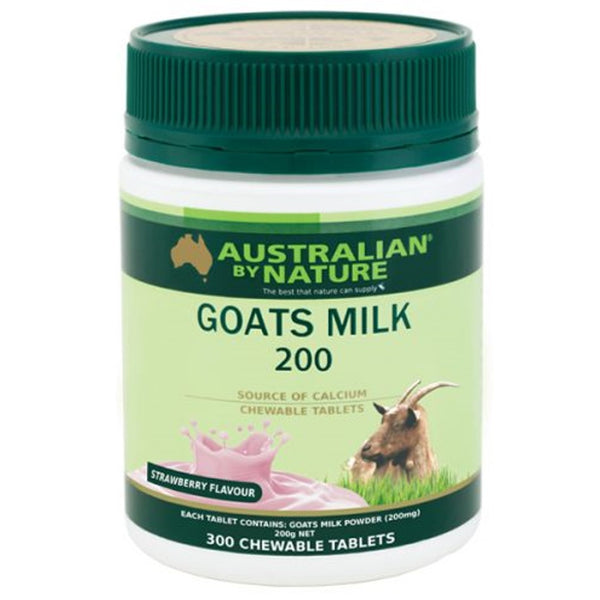 Australian By Nature Goats' Milk, 200mg (Strawberry) 300 tabs.