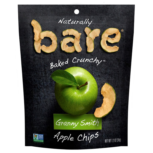 Bare Fruit 100% Natural Crunchy Granny Smith Apple Chips, 34g.