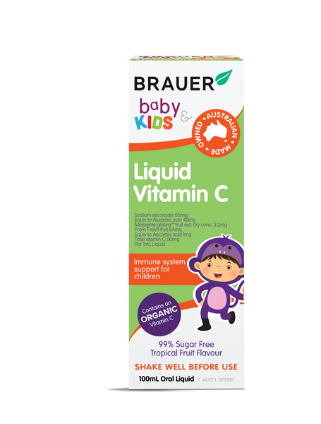 Brauer Liquid Baby & Kids Vitamin C, 100 ml.