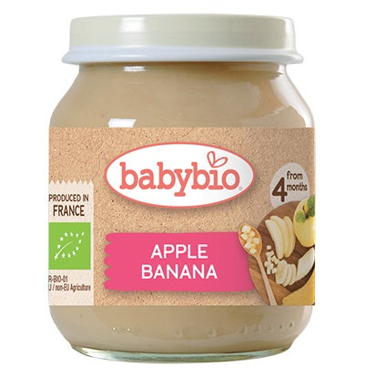 Babybio Organic Apple & Banana, 130 g.-NaturesWisdom