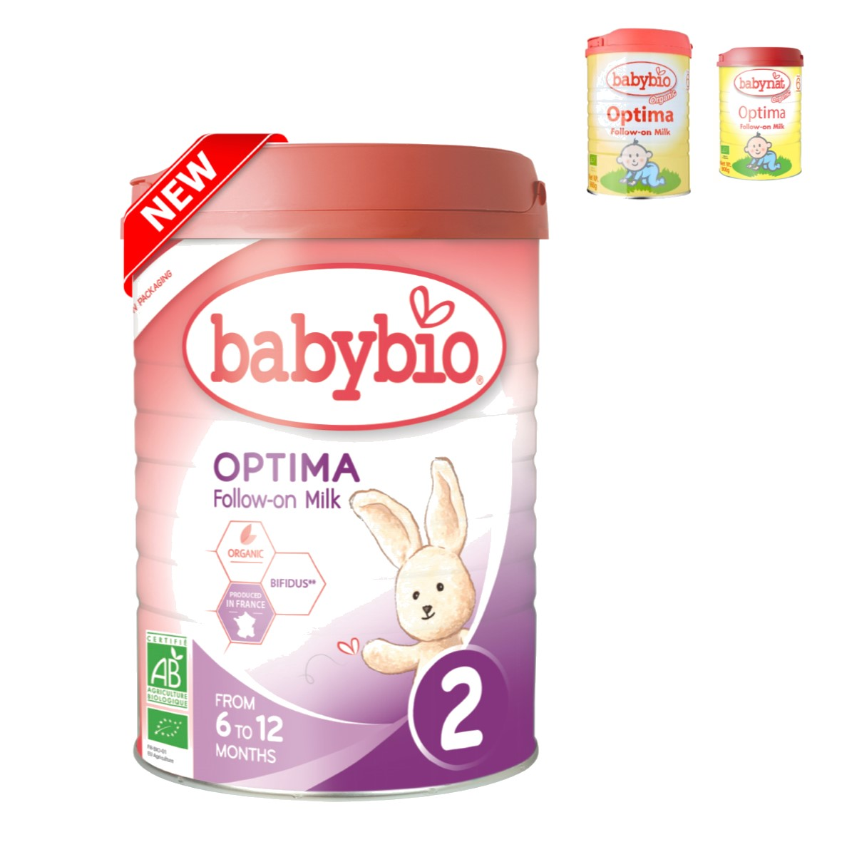 Babybio Organic Optima Follow-On Milk (6 mos. onwards), 900 g-NaturesWisdom