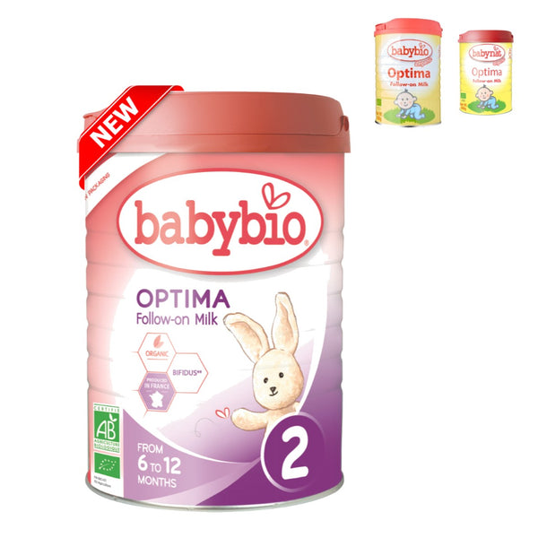 Babybio Organic Optima Follow-On Milk (6 mos. onwards), 900 g