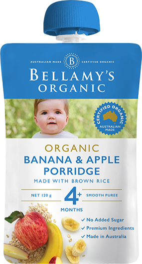 Bellamy's Organic Banana Apple Porridge made with Brown Rice, 120g
