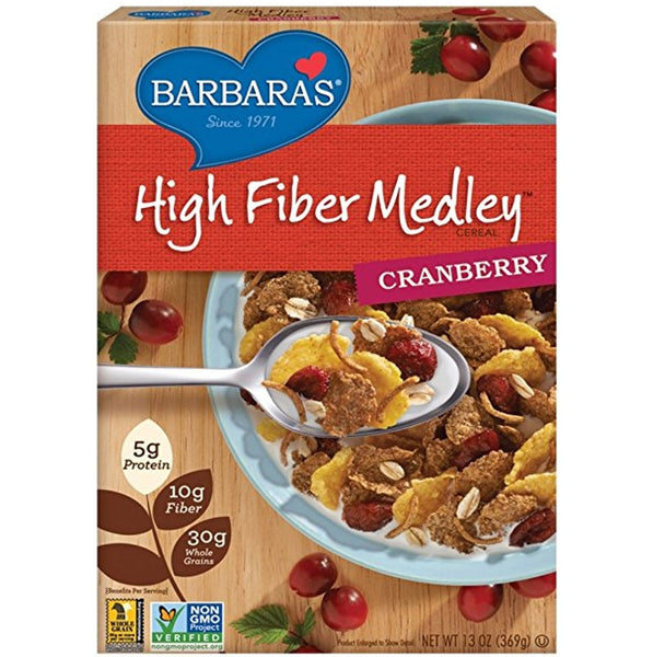 Barbara's Bakery High Fiber Medley - Cranberry,  369g.