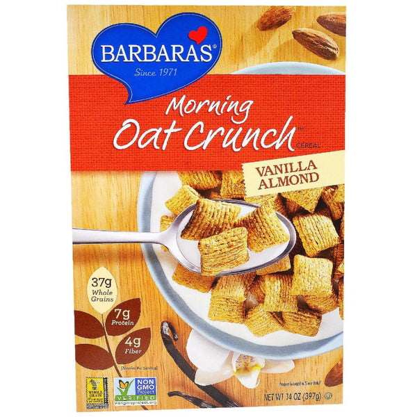 Barbara's Bakery Morning Oat Crunch - Vanilla Almond, 397g.