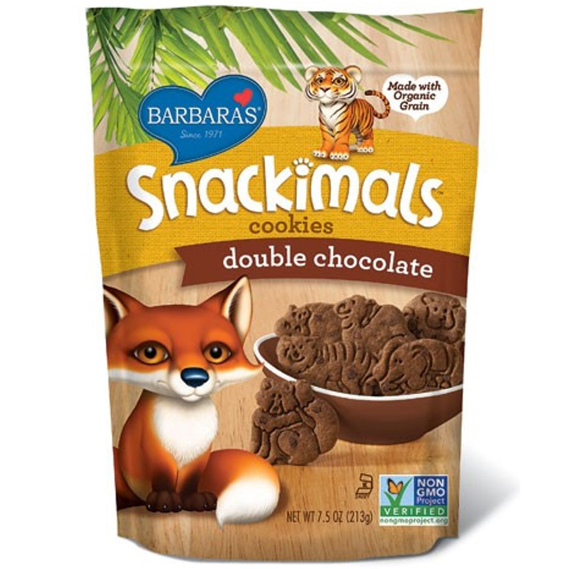 Barbara's Bakery Snackimals Animal Cookies - Double Chocolate, 213g.