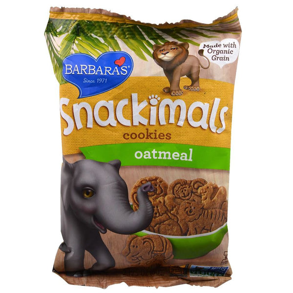 Barbara's Bakery Snackimals Animal Cookies - Oatmeal, WF, 60g.