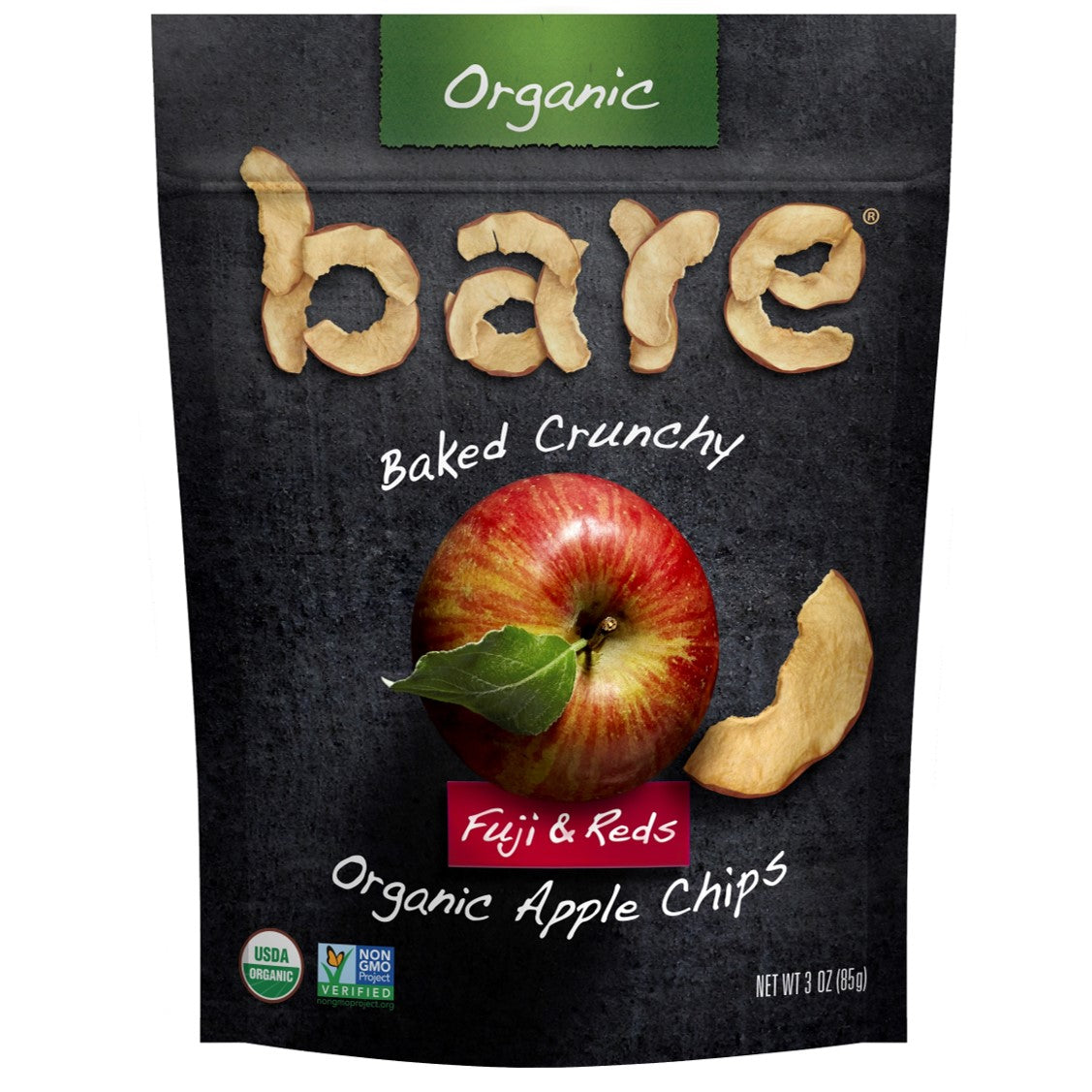 Bare Fruit Organic Fuji & Reds Apple Chips, 85g.
