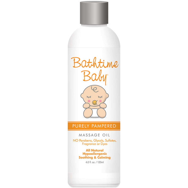 Bathtime Baby Purely Pampered Massage Oil, 120ml.
