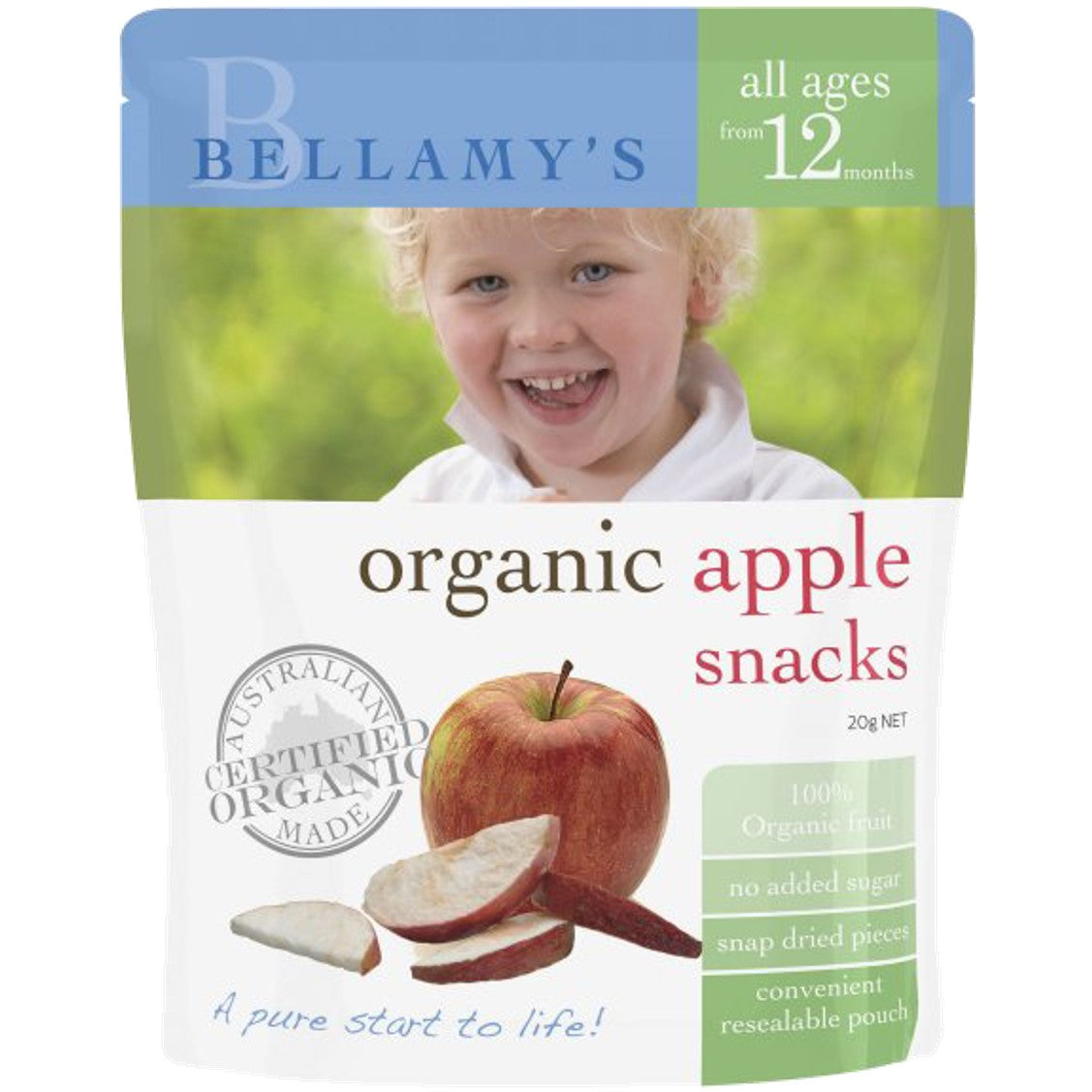 Bellamy's Organic Apple Snacks, 20 g.-NaturesWisdom