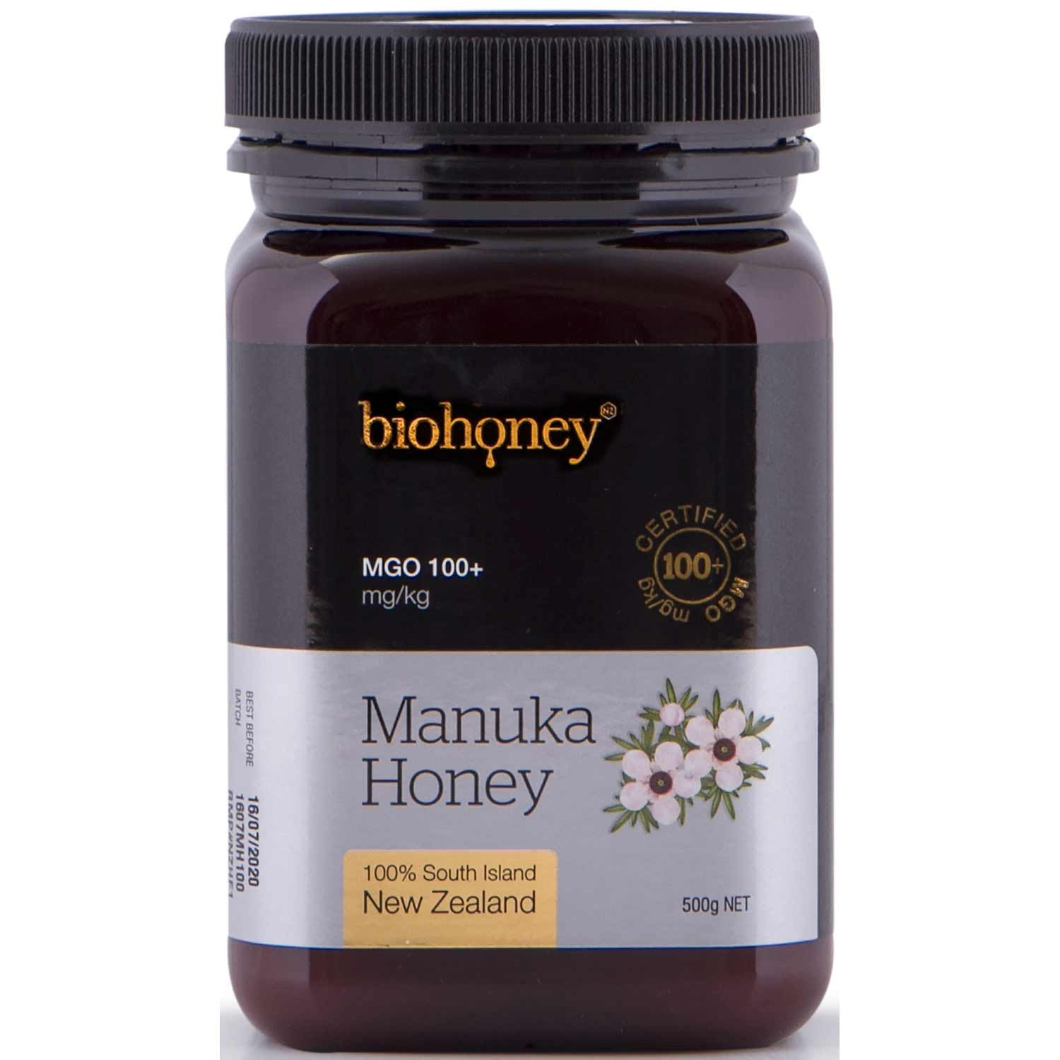BioHoney Manuka Honey 100+ MGO, 500g-NaturesWisdom