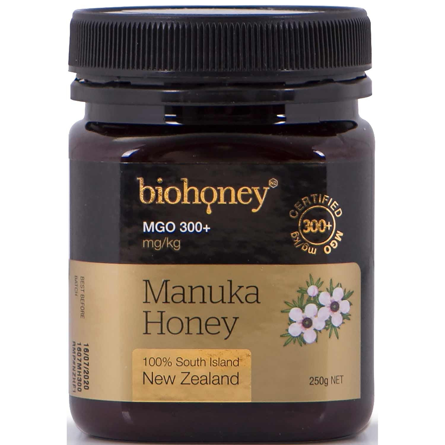 BioHoney Manuka Honey 300+ MGO, 250g-NaturesWisdom