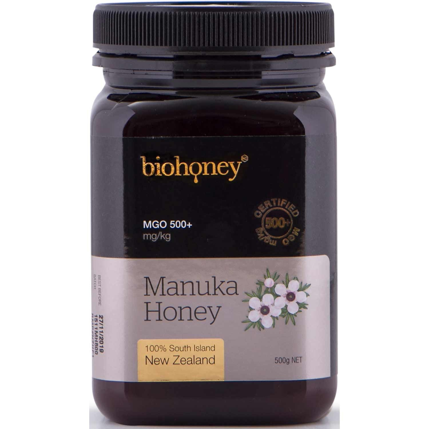 BioHoney Manuka Honey 500+ MGO, 500g