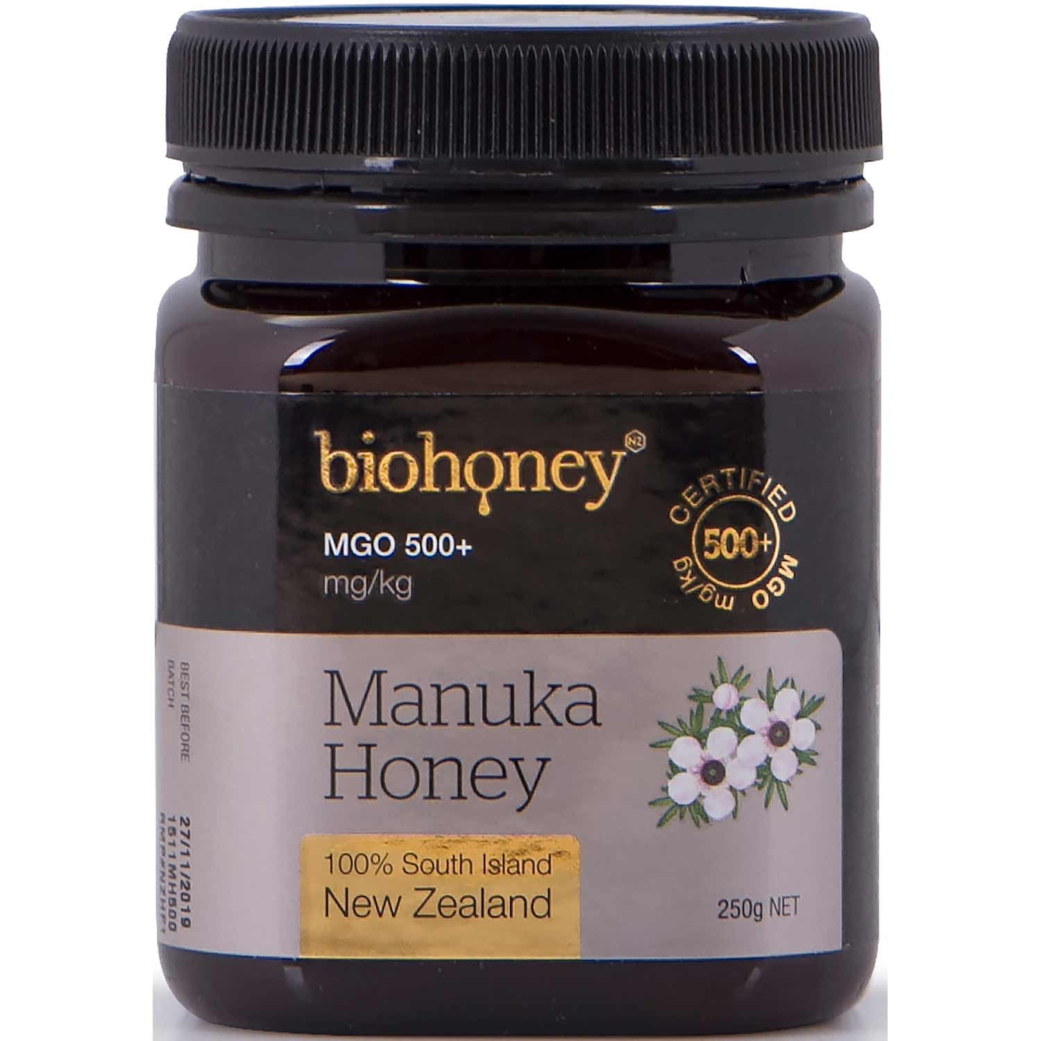 BioHoney Manuka Honey 500+ MGO, 250g-NaturesWisdom