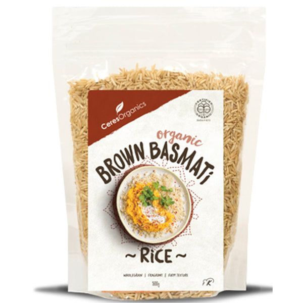 Ceres Organics Brown Rice Basmati,.500g