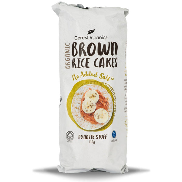 Ceres Organics Brown Rice Cakes - No Added Salt, 110 g.